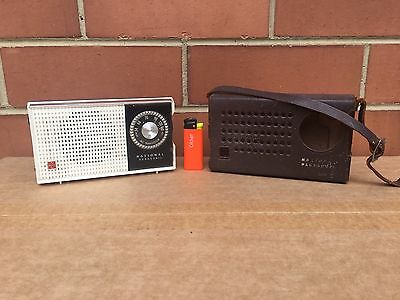 National Panasonic 6- Transistor Radio, Model: R-104A, 1960's, GWC, With Case