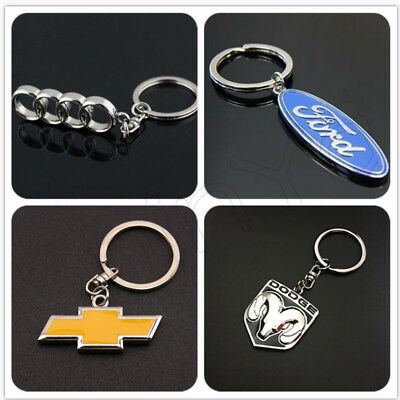 3D Metal Car Logo Keyring Keychain Pendant Key Holder Ring Zinc Keyfob Key Chain