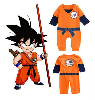 Dragon Ball Goku Costume Baby Boys Romper Bodysuit Jumpsuit Outfits Clothe Sets