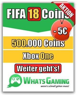FIFA 18 - FUT - ULTIMATE TEAM - 500.000 Coins - 500k Münzen - Xbox One -