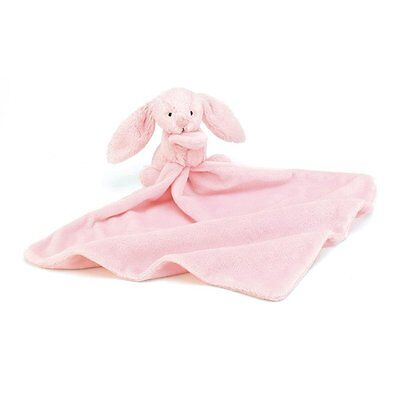 Jellycat Bashful Pink Bunny Baby Soother Newborn Comforter Blanket Blanky New