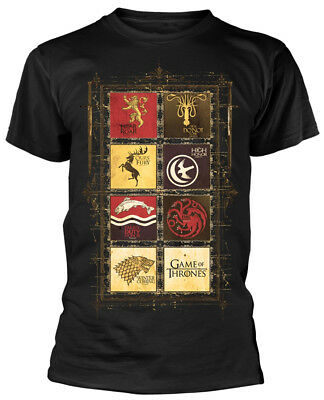 Game Of Thrones 'Block Sigils' T-Shirt - NEW & OFFICIAL!