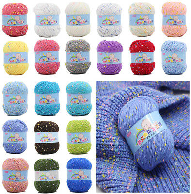 NEW 35 Colours Super Soft Smooth Chunky Milk Knitting Wool Yarn Baby Skein Ball