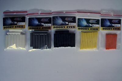 FLY TYING, BOOBY EYES,5 SIZES, 50 pieces