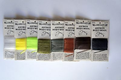 Fly Tying,antron Body-Wool, 8 Colours