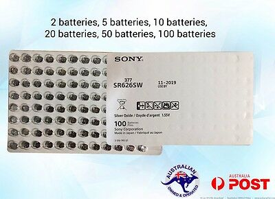 SONY SR626SW 377 Silver oxide batteries exp 11/2019 Brand new multi pack Genuine