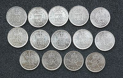 George VI Sixpences - 1937 to 1952 (Bright Uncirculated) choose your date