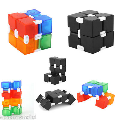Fidget Cube Puzzles Magic Infinity Cube Kids Adults Anti Stress Relief EDC Toys