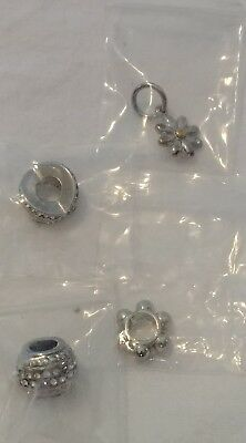 lot of 4 stainless steal DSMK 316L Charms