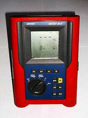 Calibrated AMPROBE GEOTEST 2016 Digital Grounding Resistance Tester.