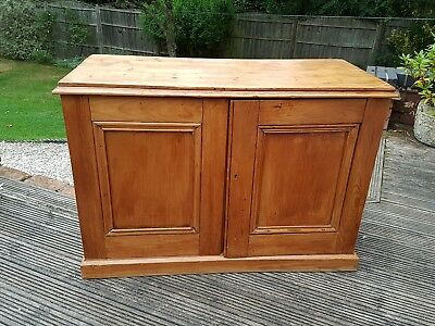 Late 19th Century Pine Low Side Cupboard