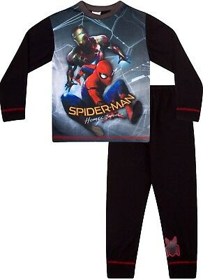 Boys  Marvel Spiderman Home Coming Movie Pyjamas Iron Man 4 to 8 Years