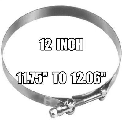 DIXON 12 inch  Stainless Steel T-Bolt Hose Clamp - STBC1200