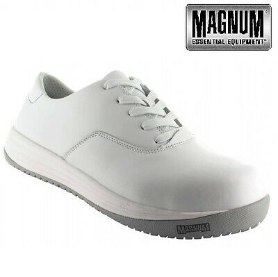 Mens Magnum Lightweight Leather Composite Toe Cap Safety Trainers Shoes Boots Sz