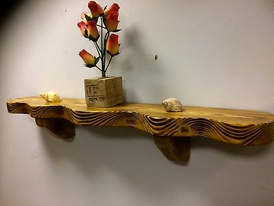 Solid Wall Shelf  wood  Mantel Vintage antique  Bookcase Medium Oak Rustic