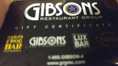 $125 GIBSONS Restaurant Group Gift card