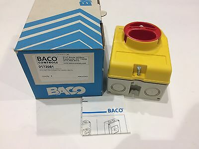 BACO Controls 0172061 3 Pole 25 A Disconnect Switch NIB
