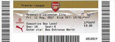 * USED MATCH TICKET -  ARSENAL v LEICESTER CITY (11th August 2017) *