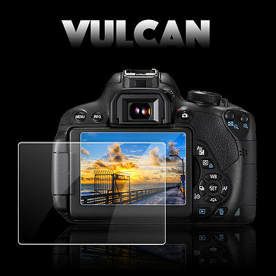 VULCAN Glass Screen Protector for Canon EOS 7D LCD. Tough Anti Scratch Cover