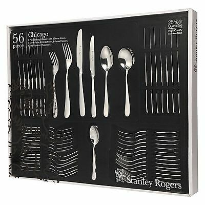 STANLEY ROGERS Chicago 56 Piece Cutlery Quality Stainless Steel