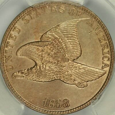 1858 Large Letters Flying Eagle Cent PCGS MS62