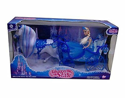 LIGHT UP PRINCESS CARRIAGE WITH PRINCESS  by ILLUSION STATE     NEW.
