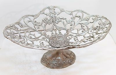 Vintage Metal Fruit Basket Bread Basket Centerpiece