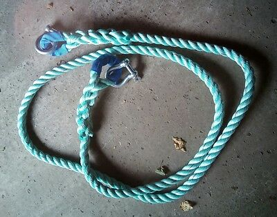 tow rope with shackles 15 feet long unused