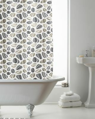 Pebbles With Hook Shower Curtain Brand New Gift