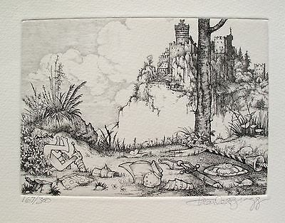 """CHARLES BRAGG """"THE CAPTURE"""" Hand Signed Limited Edition Etching CAMELOT SERIES"""