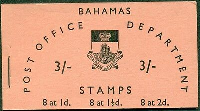 Bahamas #205-7a Complete booklet, VF, Scott $22.50