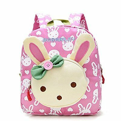 Backpack Pre School Bag For Toddler Girls Cute Cartoon Animal Sturdy Pink NEW