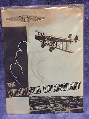 The Wimperis Bombsight 1930's Rare Brochure Smiths Aircraft Instruments