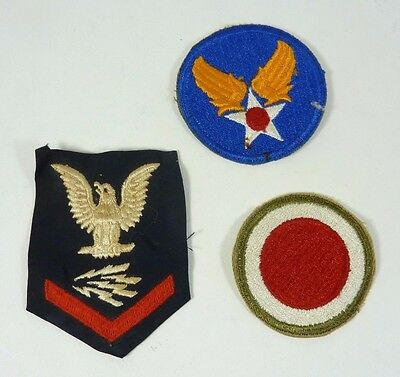 Vintage Lot of 3 Military Patches lot b NOAG