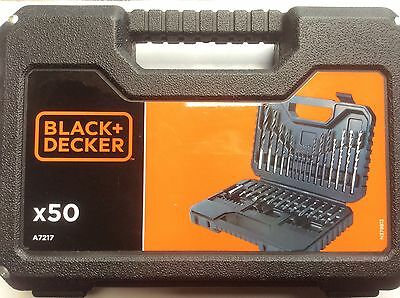 Black & Decker 50 Piece Drill Bits and Screwdriving Bit Set in Sturdy Case-A7217