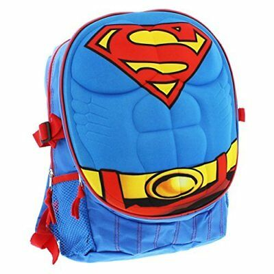 School Bookbag Superman 3D Backpack For Boys Students Sturdy New Version