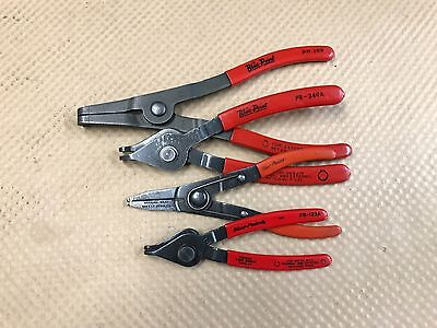 Blue Point Tools Set Of 4 Internal & External Retaining Snap Ring Pliers (#39)