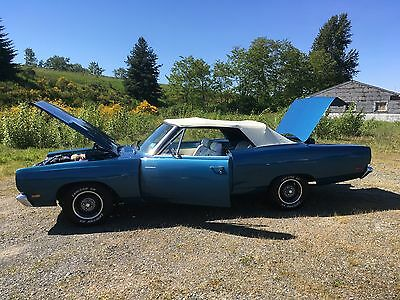 1969 Plymouth Road Runner  1969 Plymouth Roadrunner Convertible 383 4 speed