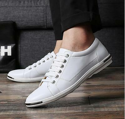 New fashion men's casual shoes Large size Fashion Sneaker leather shoe size 12