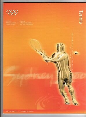 Orig.Complete PRG      Olympic Games SYDNEY 2000  -  TENNIS  !!  RARE