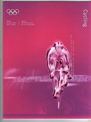 Orig.Complete PRG      Olympic Games SYDNEY 2000  -  CYCLING  !!      RARE