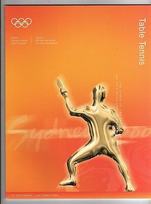 Orig.Complete PRG      Olympic Games SYDNEY 2000  -  TABLE TENNIS  !!  RARE