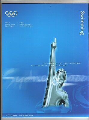 Orig.Complete PRG      Olympic Games SYDNEY 2000  -  SWIMMING  !!  RARE