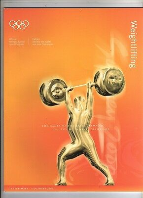 Orig.Complete PRG      Olympic Games SYDNEY 2000  -  WEIGHTLIFTING  !!  RARE