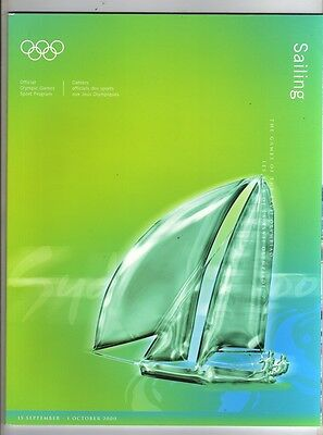 Orig.Complete PRG      Olympic Games SYDNEY 2000  -  SAILING  !!  RARE