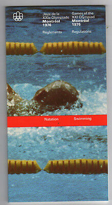 Orig.PRG / Rules / Regulations  Olympic Games MONTREAL 1976 - SWIMMING  !!  RARE