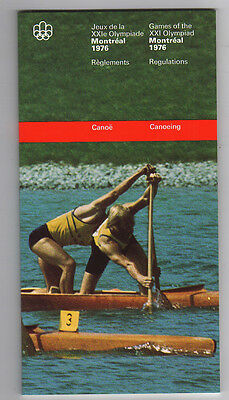 Orig.PRG / Rules / Regulations  Olympic Games MONTREAL 1976 - CANOEING  !!  RARE