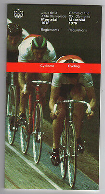 Orig.PRG / Rules / Regulations   Olympic Games MONTREAL 1976 - CYCLING  !!  RARE
