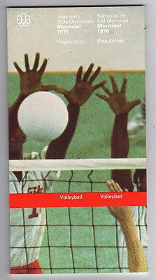 Orig.PRG / Rules / Regulations    Olympic Games MONTREAL 1976 - VOLLEYBALL  !!