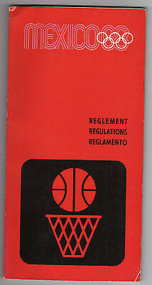 Orig.PRG / Regulations   Olympic Games MEXICO 1968 - BASKETBALL  !!  VERY RARE
